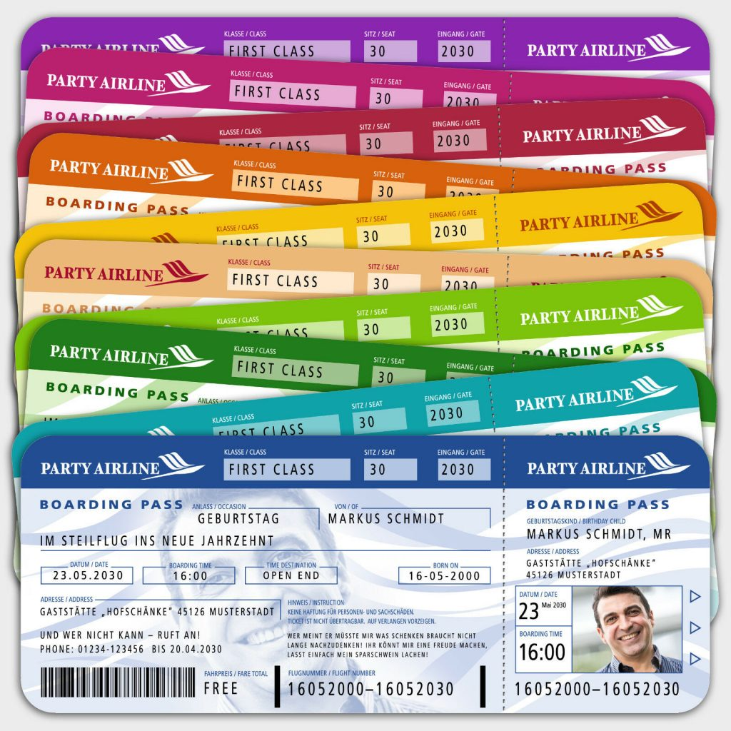 Flugticket Boarding Pass