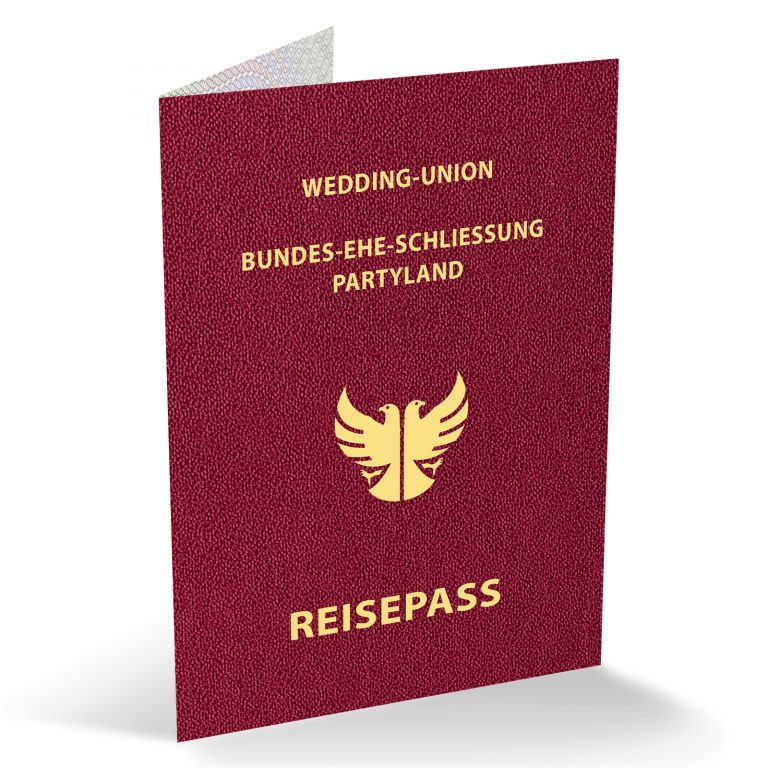 Einladungskarten als Reisepass Save The Date